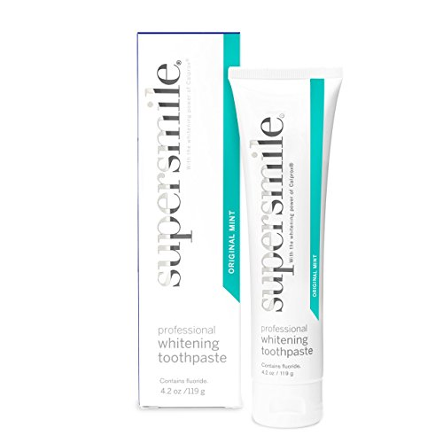 Supersmile Professional Teeth Whitening Toothpaste – Recommended By Cosmetic Dentists, CLINICALLY PROVEN TO WHITEN TEETH AND SUPPORT GUM HEALTH, No Sensitivity, 3 Month Supply - 4.2 Oz Original Mint