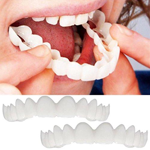 2PCS/set Cosmetic Teeth Denture Teeth Top Cosmetic Veneer Comfort and Make You Smile Gessppo