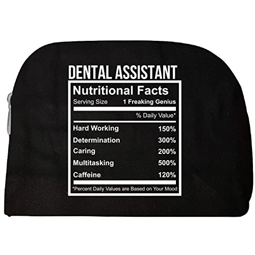 Dental Assistant Nutritional Facts Funny Gift - Cosmetic Case