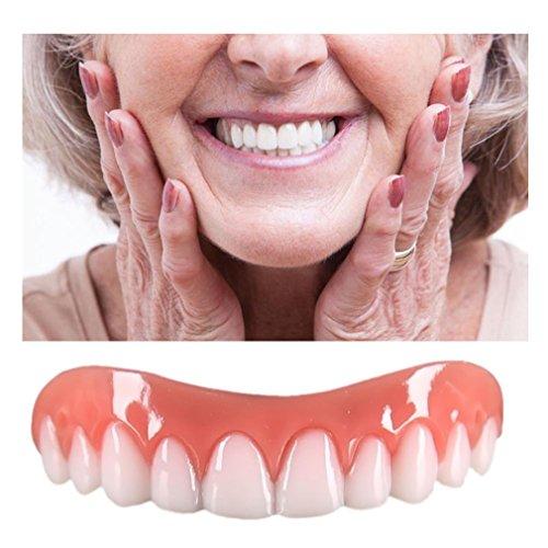 Inkach Denture Teeth, Cosmetic Upper Teeth Veneer Teeth Whitening Denture Model Tooth Shade (White)