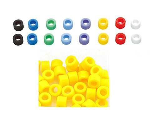 50 Pcs Small Type Dental Hygienist Silicone Instrument Color Code Rings Yellow