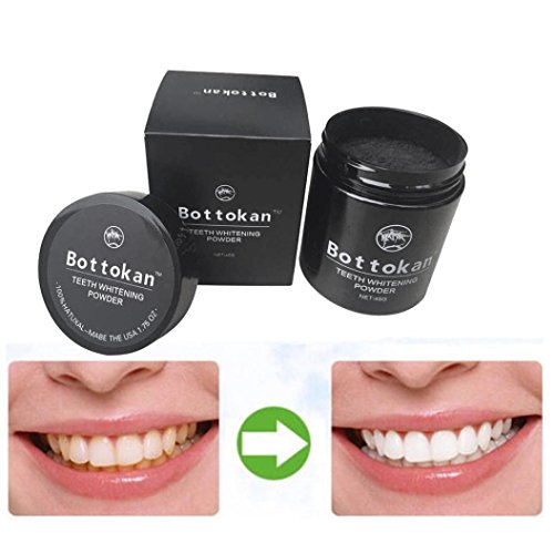 Carbon Coco Teeth Whitening Powder,Zyooh 45g Natural Organic Activated Charcoal Bamboo Toothpaste Powder Effective Removes Tooth Stains (Plastic Box)