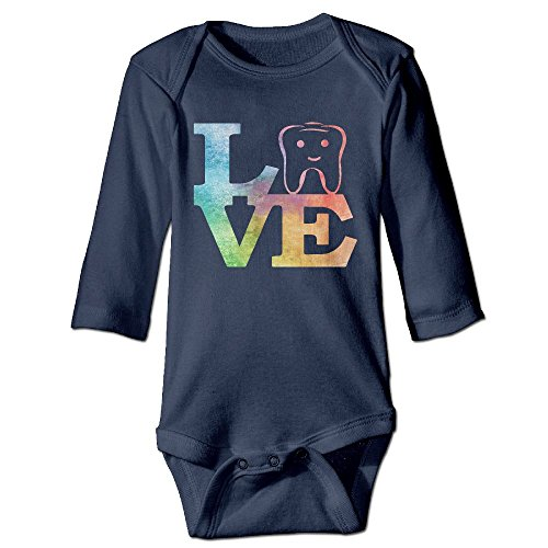 Unisex Cotton Long Sleeve Dentist Dental Hygienist Infant Baby Girls' Boys' Onesies Bodysuit 6 M Outfits