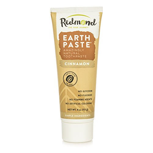 Redmond Earthpaste - Natural Non-Flouride Toothpaste, Cinnamon, 4 Ounce Tube (1 Pack)