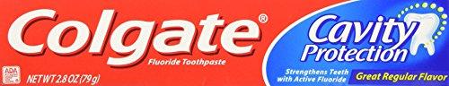 Colgate Cavity Protection Toothpaste, Regular Flavor, 2.8 oz Tube